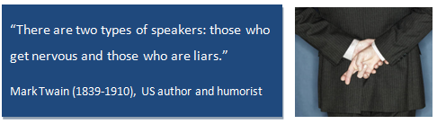 Quote about nerves in presentations and public speaking