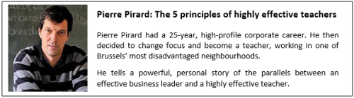 Example of an effective presentation 1_Pierre Pirard_The 5 principles of highly effective teachers